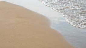 Water edge clear sea. Closeup stock footage