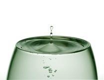 Water in een glas stock afbeelding