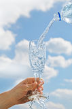 Water in een glas royalty-vrije stock foto