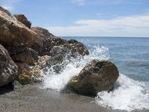 Water effect. Of a wave that hits a rock Royalty Free Stock Photo