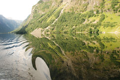 Water effects of Naeroyfjord Stock Photos