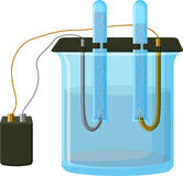 Water electrolysis process Stock Photography