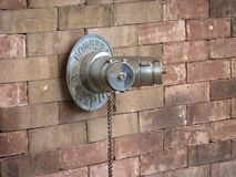 Water Emergency Supply at Wall Stock Images
