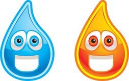 Water en Brand vector illustratie