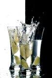 Water en citroen Royalty-vrije Stock Afbeelding