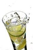 Water en citroen Stock Afbeeldingen