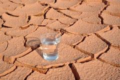 Water en geen water Royalty-vrije Stock Foto's