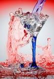 Water en glas royalty-vrije stock afbeeldingen