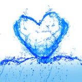 Water en hart Stock Afbeelding