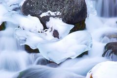 Water en ijs Stock Foto