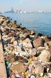 Water en Luchtvervuiling Stock Afbeeldingen