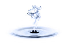 Water en rook Stock Afbeeldingen