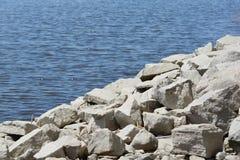 Water en rots-2 Stock Foto