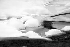 Water en sneeuw Stock Foto's