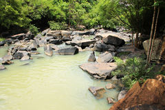 Water en steen. Royalty-vrije Stock Foto's