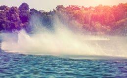 Water en van de waterdaling texturen splatter Gebruikt als achtergrond stock afbeelding