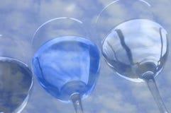 Water en wolken Stock Afbeeldingen
