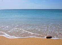Water en zand in het strand Royalty-vrije Stock Afbeelding