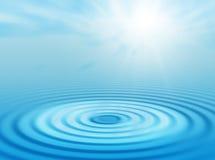Water en zon Stock Afbeelding