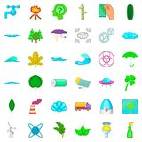 Water energy icons set, cartoon style Stock Photo