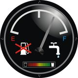Water engine dashboard. Vector illustration Royalty Free Stock Photography