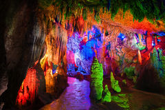 The water-eroded cave. The image taken in chinas yunnan provice shilin county jiuxiang scenic spot., The water-eroded cave royalty free stock photos