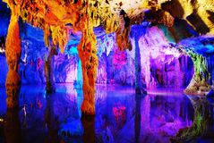 Water eroded Reed Flute Cave Stock Photography