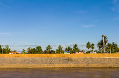 Water erosion protection wall Royalty Free Stock Images