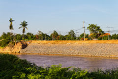 Water erosion protection wall Stock Photos
