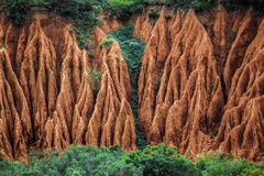 Water erosion. Water erosion on the side of a mountain in Africa royalty free stock photos