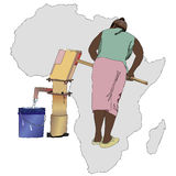 Water essential commodity for Africa Stock Photos