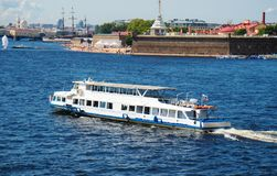 Water excursions. Water excursions along the rivers and canals of St. Petersburg stock images