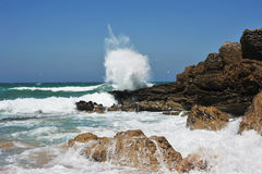 Water explosion. Waves of the Atlantic Ocean Stock Image