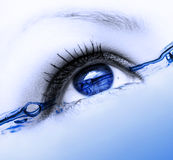 Water eye royalty free stock photo