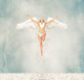 Water Fairy Angel Emerges From The Sea Illustration Royalty Free Stock Image