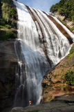 Water fall. In ilhabela, brazil stock photo