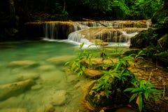 Water fall. Arawan watel fall , at Kanchanaburi, Thailand Royalty Free Stock Images