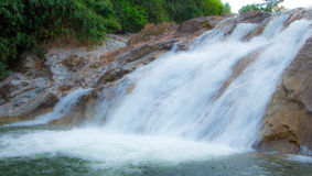Water fall as a tourist destination for a family holiday. Stock Photography