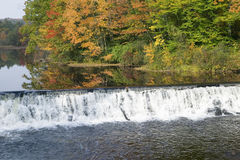 Water fall and autumn color of western Massachusetts, New England Stock Photo