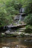 Water Fall. A beautiful little water fall is what makes the Great Smokey mountains a great place to visit stock photography