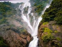Water fall dhoodsagar landscape photos family trip. Amazing water fall in konkan portions maharashtra India rain amazing falls soul of life view scenes scenario