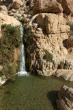 Water fall at ein gedi israel Stock Image