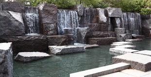Water Fall at FDR Memorial  Stock Photo