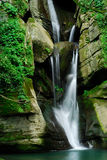 Water fall of forest. A small river water fall Royalty Free Stock Photography