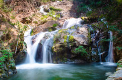 Water fall. In forest at Petchaburi, Thailand Royalty Free Stock Photos