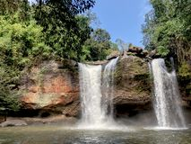 Water fall and forest at thailand,nature outdoor stock photo