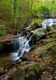 Water fall in the forest. A very small water fall stream by a small forest. Plenty of rocks stand in the way of the stream. Picture was taken in Amicalola Falls Royalty Free Stock Images