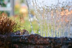 Blurry Water fall in garden,abstract background Royalty Free Stock Photography