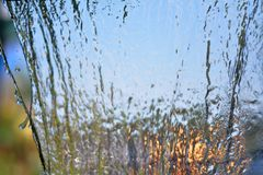 Blurry Water fall in garden,abstract background Stock Images