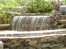 Water fall in garden Stock Photography